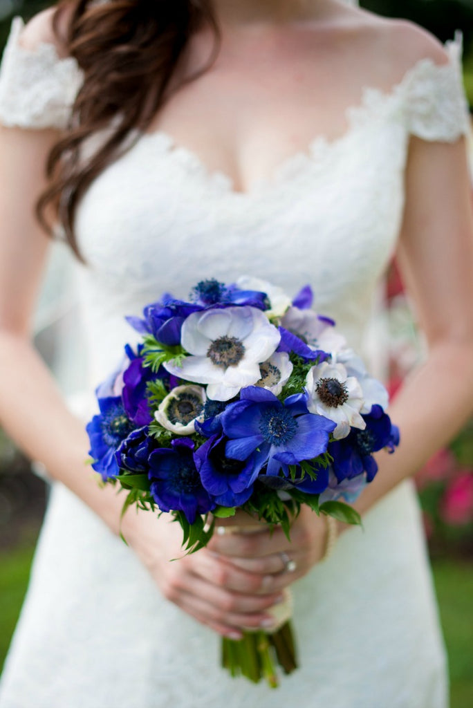 Beautifully blue wedding bouquet