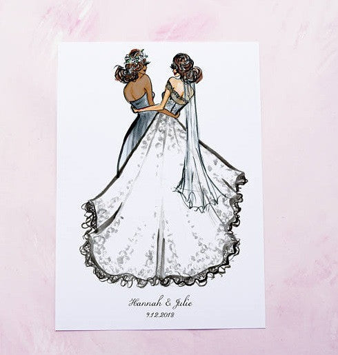 How precious is this personalized bridesmaid proposal card? | The Ultimate Guide to Bridesmaid Proposal Gifts | Ssasa Designs | Kennedy Blue