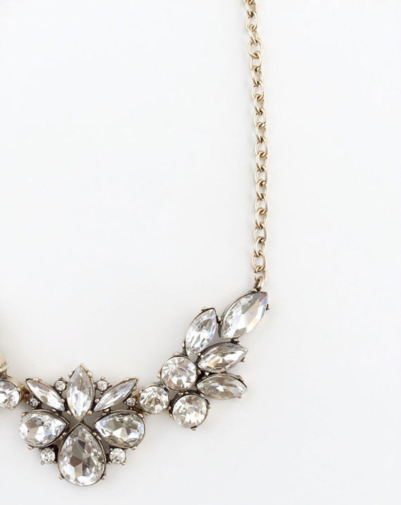 A crystal statement necklace from WinkofPinkShop