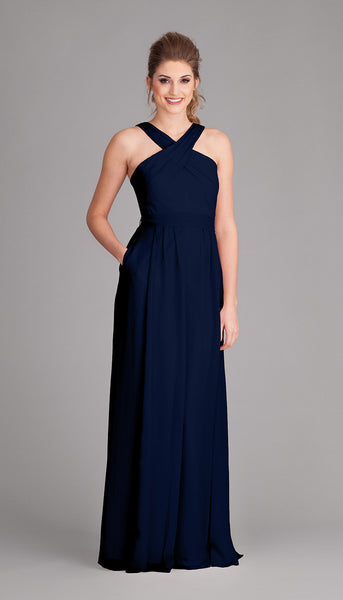 Navy blue perfection, Stella is a gorgeous dress from Kennedy Blue | Your Ultimate Guide to Fall Weddings | Kennedy Blue bridesmaid dress style Stella featured in navy blue