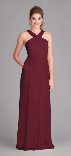 Kennedy Blue Bridesmaid Dress Stella in Bordeaux