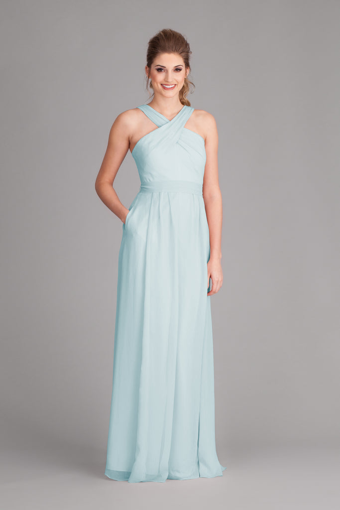 Kennedy Blue Chiffon Stella Bridesmaid Dress in Mint