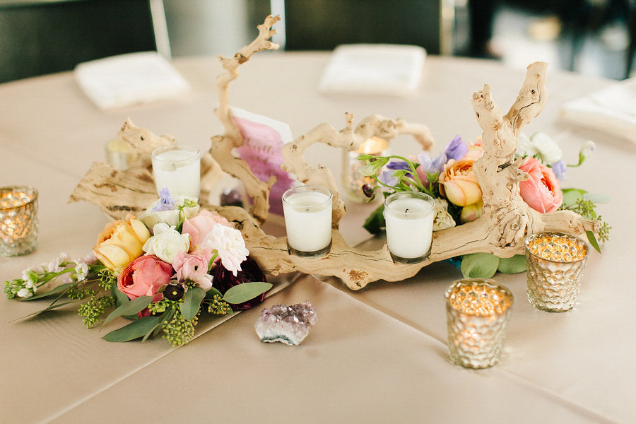 A gorgeous table centerpeice | Floral Graffiti Inspiration at The Big Fake Wedding