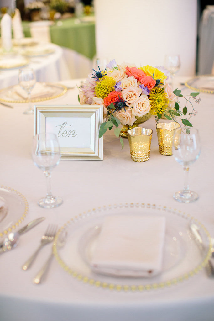 A chic table setting by Fab Design | Floral Graffiti Inspiration at The Big Fake Wedding