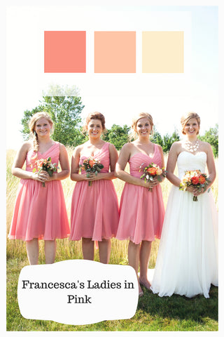 dusty rose wedding palette