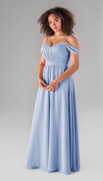 Thea in Cornflower | Our Favorite Long Light Blue Bridesmaid Dresses