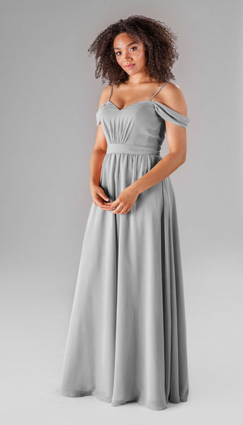 Kennedy blue Thea | Long grey bridesmaid dresses