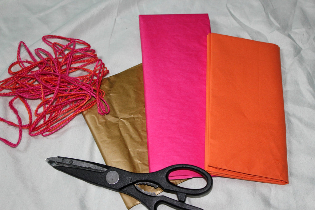 Supplies for Making a Tissue Paper Garland