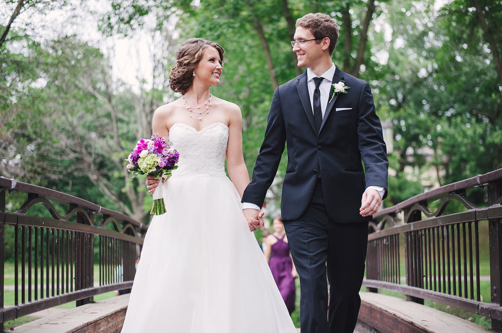 A beautiful outdoor wedding featuring Kennedy Blue wedding gown Carolyn | Kennedy Blue