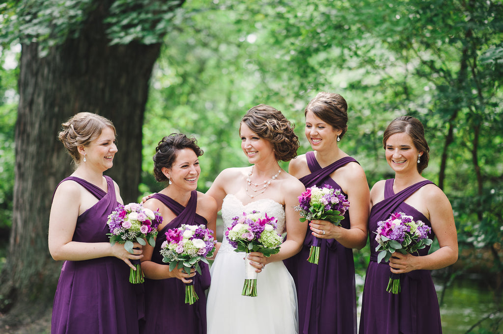 Jaimie chose Stella, a unique bridesmaid dress, to perfectly complement her ladies! | Kennedy Blue