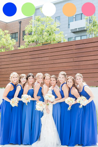 Beautiful bridal party! | A Rustic Chic Wedding | Kennedy Blue