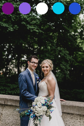 A Modern Peacock Themed Wedding | Kennedy Blue