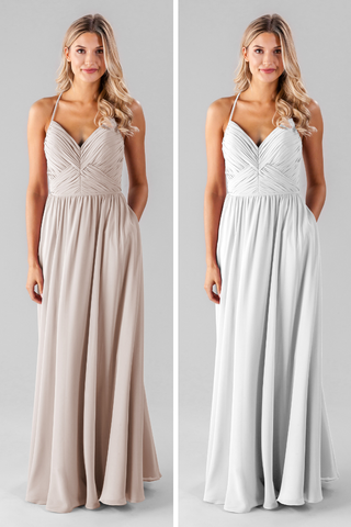 white versus ivory | ivory bridesmaid dresses