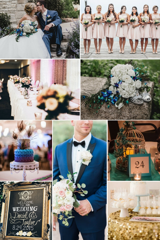 2018 wedding color palettes to inspire your big day blush navy peacock and gold color palette 2018 wedding color palettes to inspire junglespirit