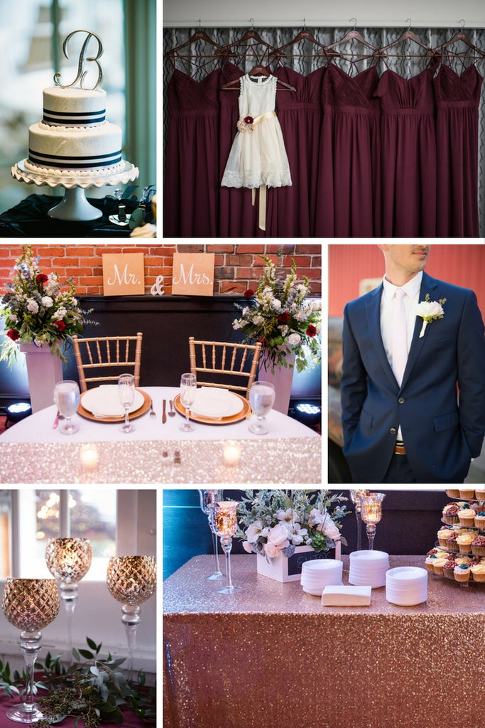 Bordeaux and Navy wedding color palette! | 2018 Wedding Color Palettes To Inspire Your Big Day | Kennedy Blue