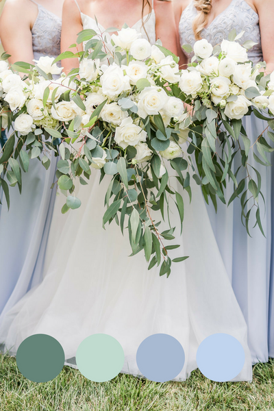 rustic blue wedding