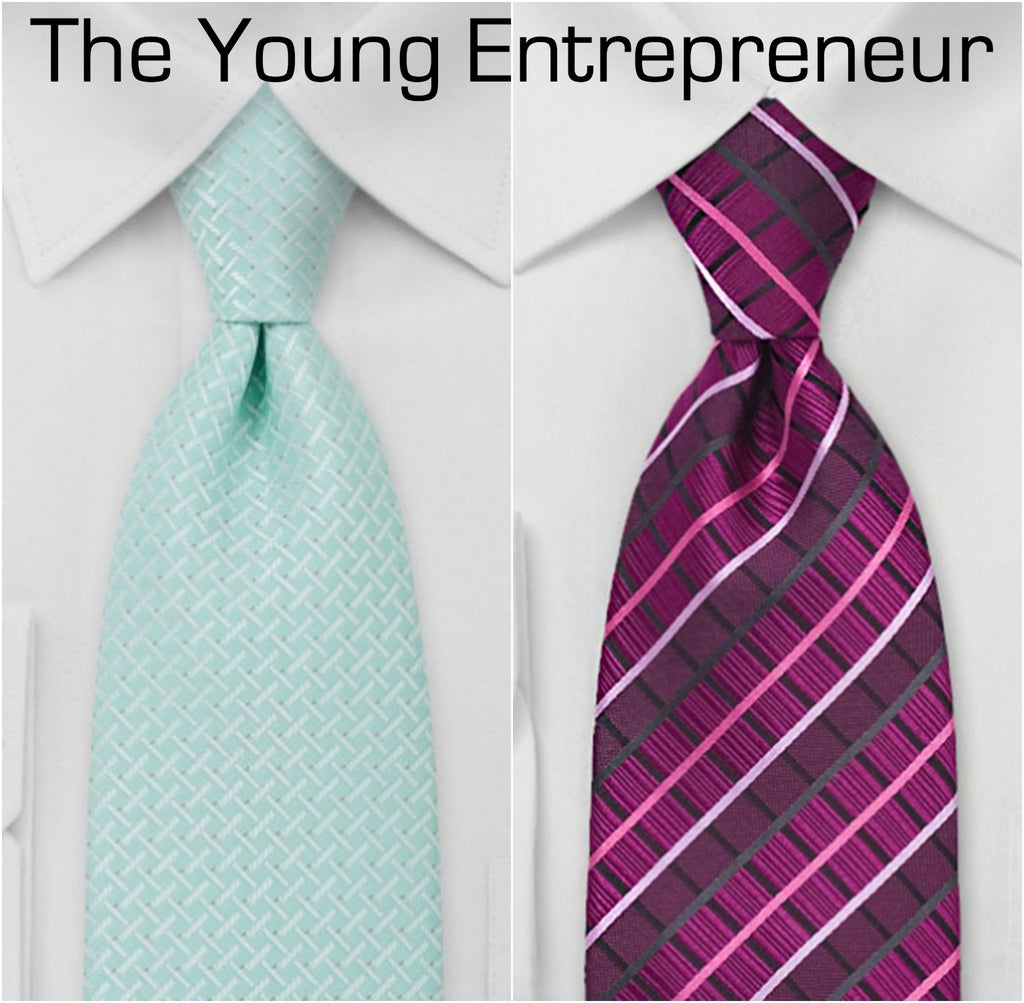 Bold tie designs for the up and coming entrepreneur. | The Perfect Valentine's Gift for Him