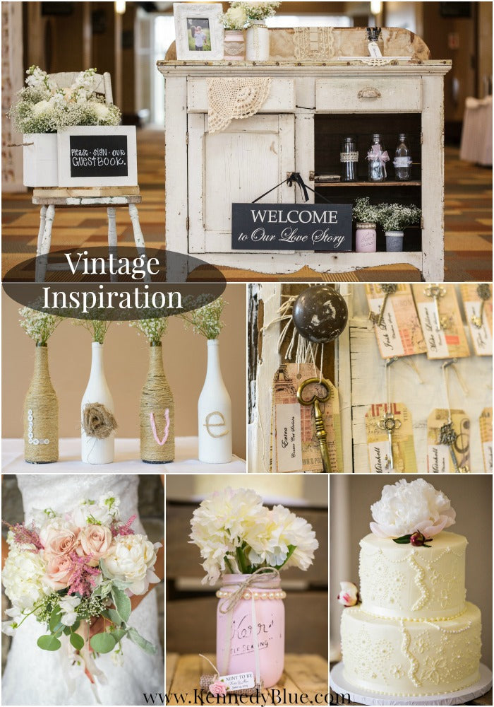Vintage wedding decoration ideas with a rustic chic twist.