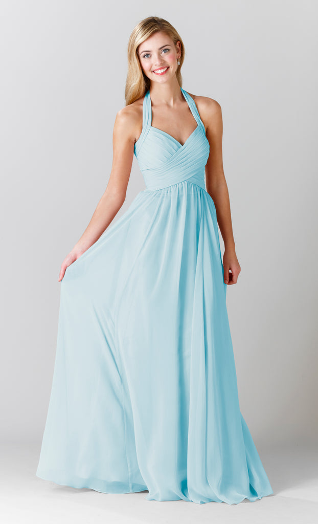 Kennedy Blue Chiffon Violet Bridesmaid Dress in Mint