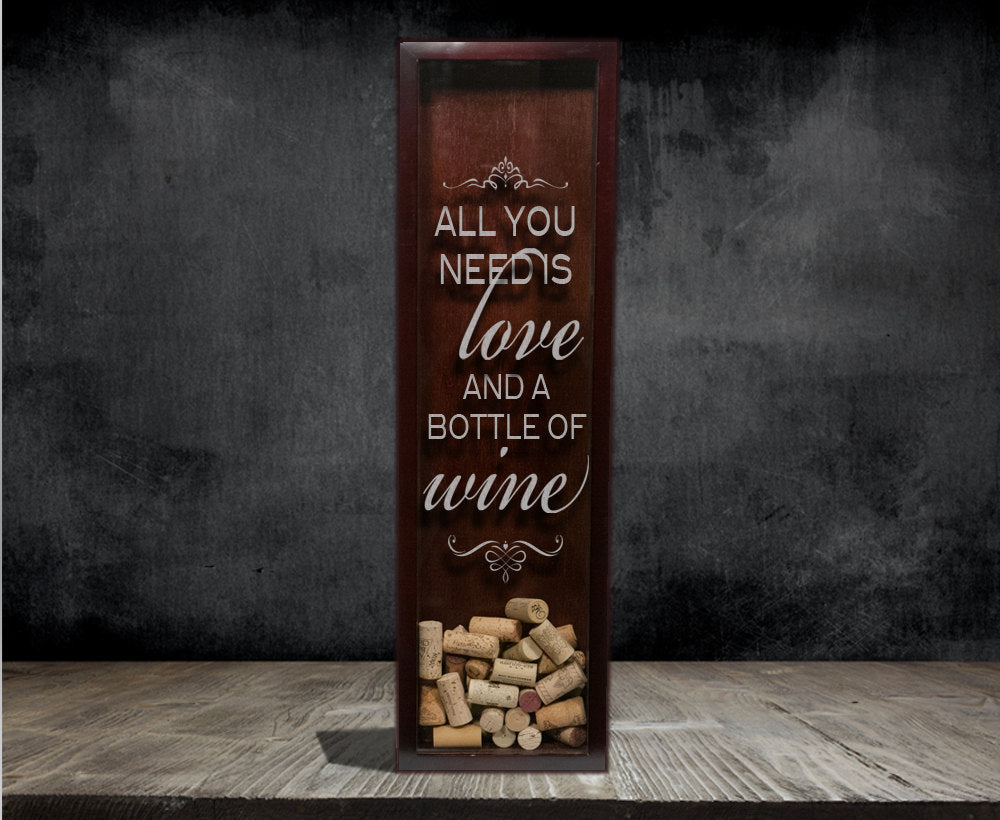 Wine Cork Holder with an Etched Love Quote | 15 Sentimental Wedding Gifts for the Couple
