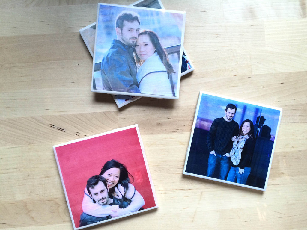 DIY Photo Coasters | 15 Sentimental Wedding Gifts for the Couple