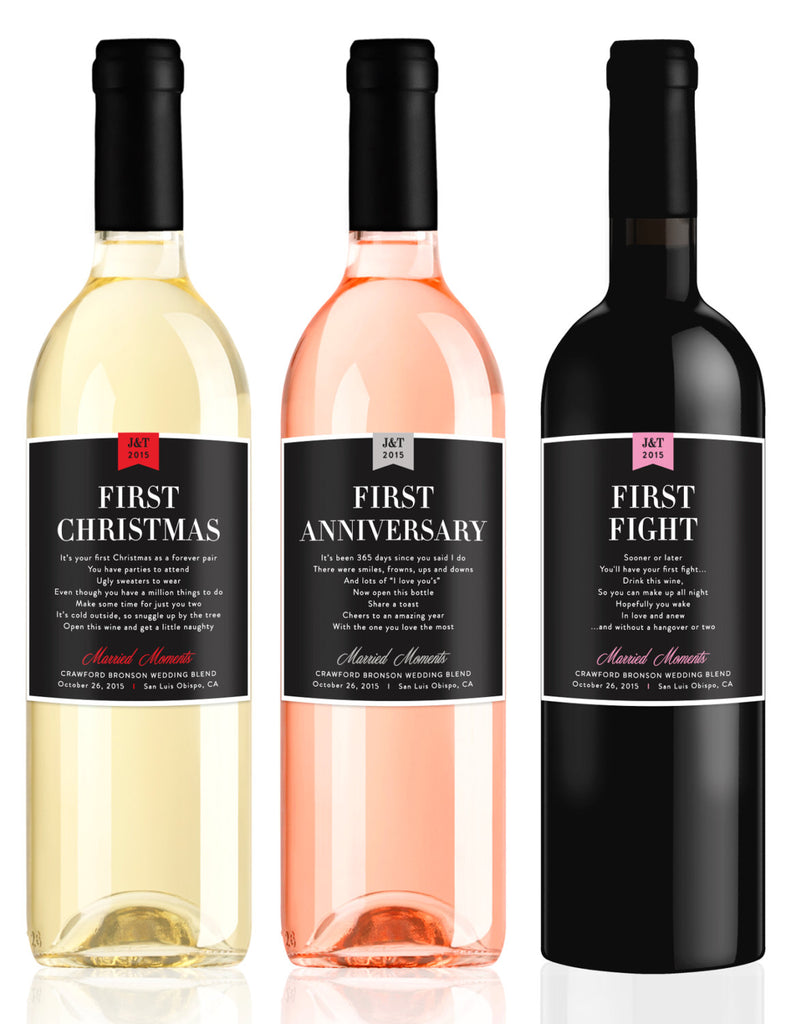 Milestone Wine Labels | 15 Sentimental Wedding Gifts for the Couple