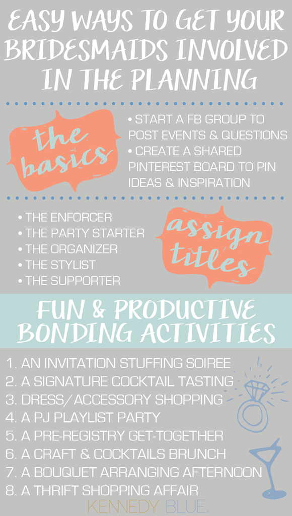 Fun ways to get your bridesmaids involved in the wedding planning fun ways to get your bridesmaids involved junglespirit Image collections
