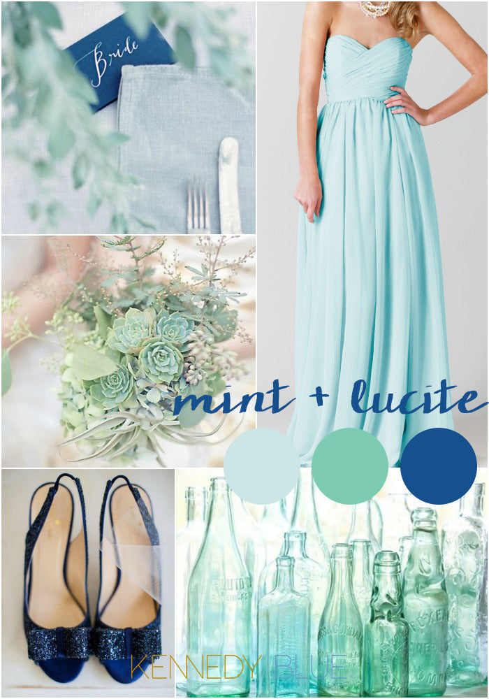 Mint blue and Lucite Green | Wedding Colors for Spring 2015