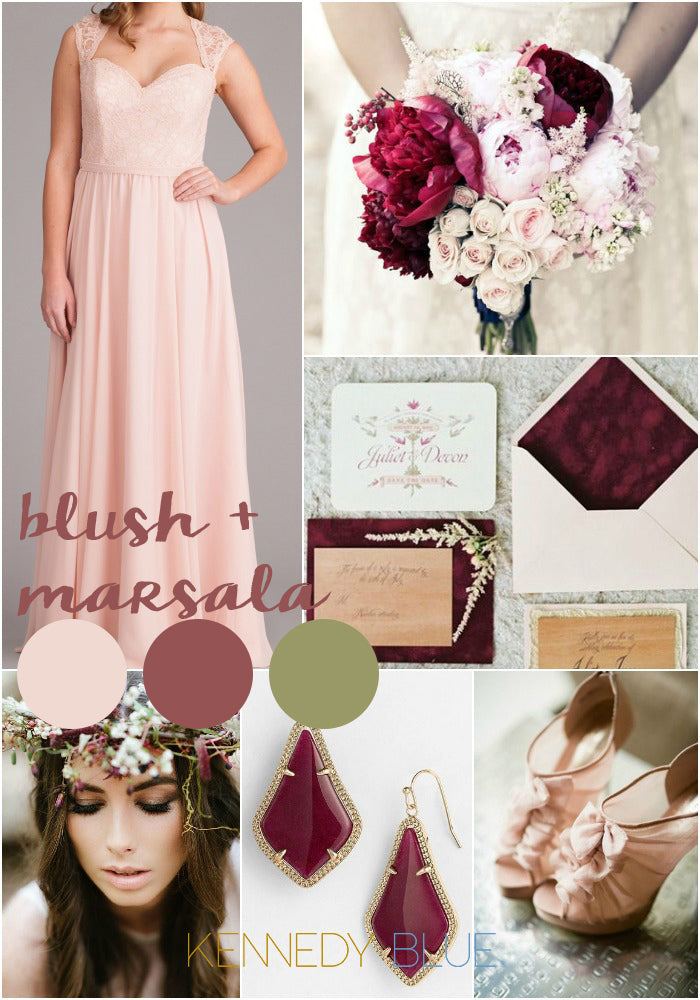 Blush pink and Marsala | Wedding Colors for Spring 2015