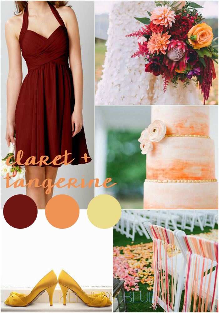 Claret and Tangerine | Wedding Colors for Spring 2015