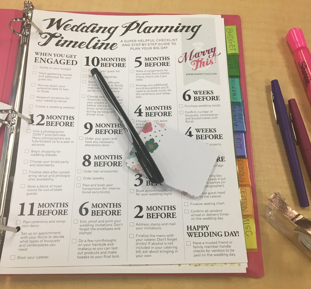 DIY Wedding Planning Binder | Kennedy Blue