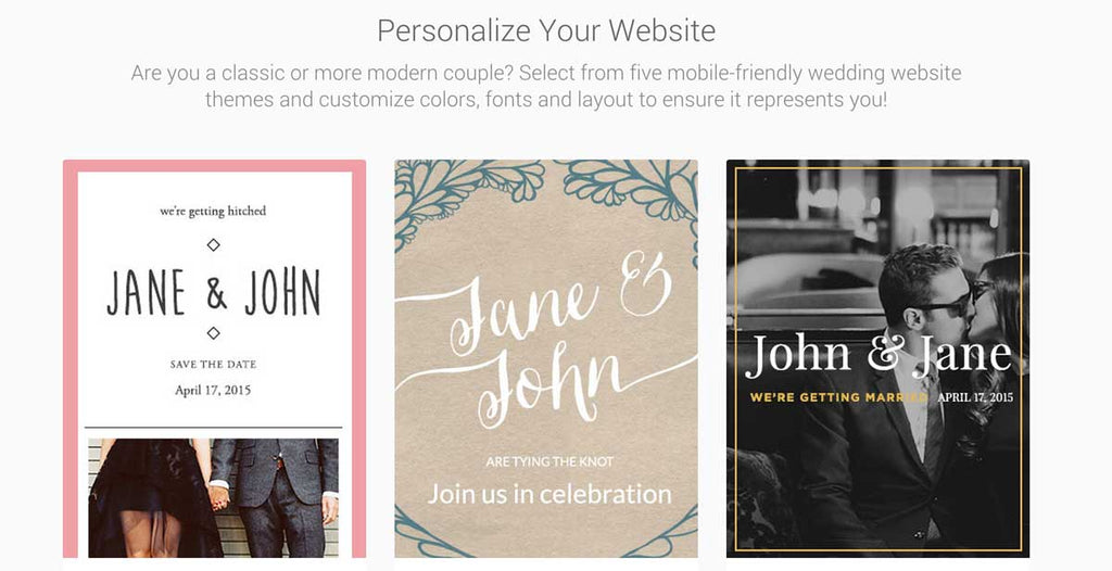 Loverly is the perfect platform to create your perfect wedding website!