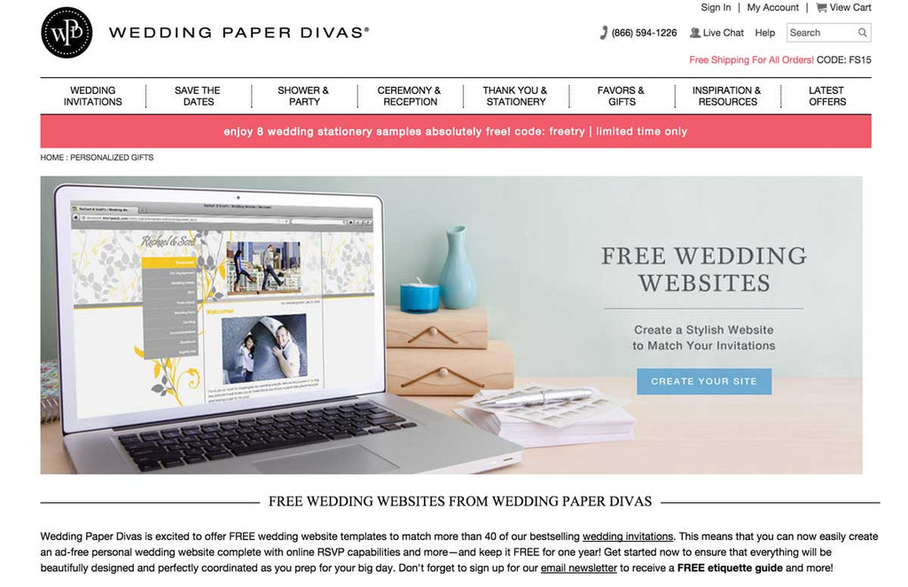 Wedding Paper Divas is great for creating your perfect wedding website!