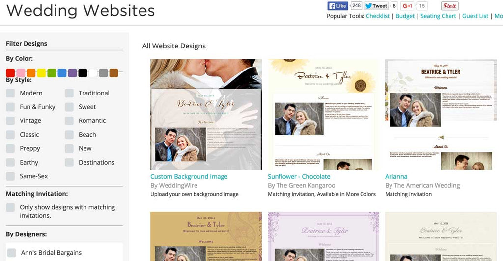 Use Wedding Wire to create your perfect wedding website!