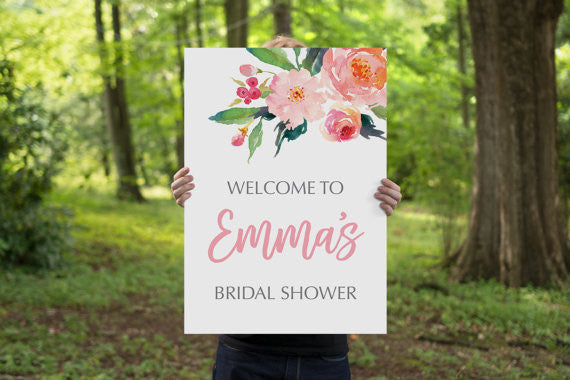 This 'welcome to my bridal party' sign is so adorable! | 52 Awesome Bridal Shower Ideas | Kennedy Blue | The Sundae Creative