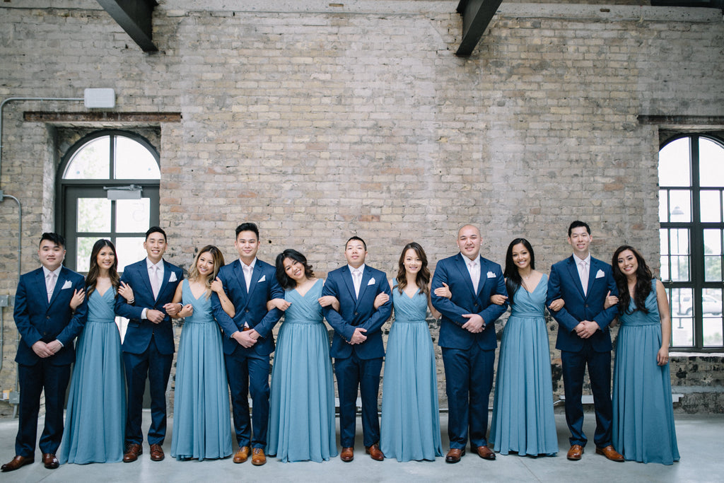 Slate Blue Bridesmaid Dresses from Kennedy Blue
