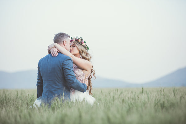 married couple about to kiss | Best Backyard wedding Ideas