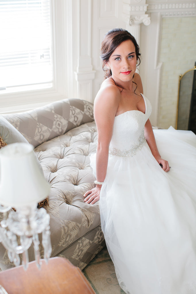 This bride was stunning in her Allure ballgown wedding dress. | A Timeless and Traditional Mansion Wedding