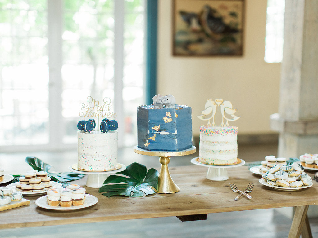 blue wedding dessert | Our Favorite Long Light Blue Bridesmaid Dresses