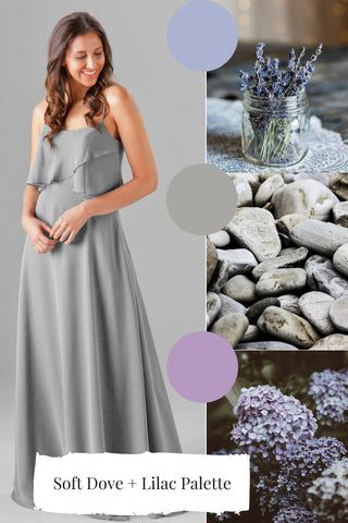 dove dusty purple bridesmaid dress