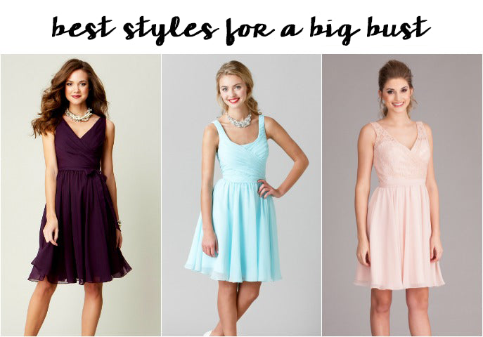 Best Bridesmaid Dress Styles for a Big Bust