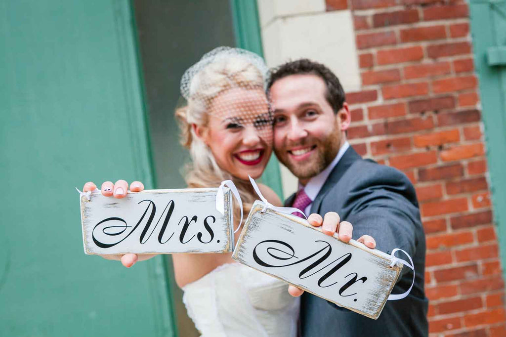 Photos of the future Mrs. and Mr. | A Blue and Pink Rock 'n Roll Wedding