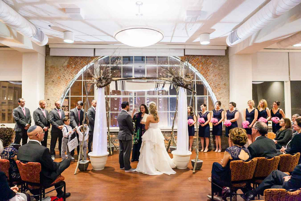 A lovely ceremony | A Blue and Pink Rock 'n Roll Wedding