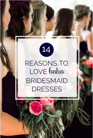 Boho bridesmaid dresses are the newest and best trend! We love boho, and offer a variety of soft chiffon dresses that are perfect for the theme | Now Trending: 14 Reasons to Love Boho Bridesmaid Dresses | Kennedy Blue