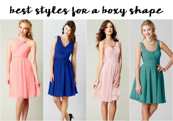 Best Bridesmaid Dress Styles for Boxy Shapes