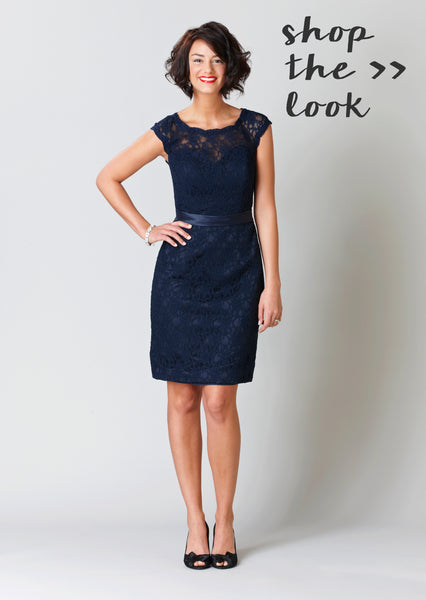 Shop Kennedy Blue Bridesmaid Dress Harper in Navy