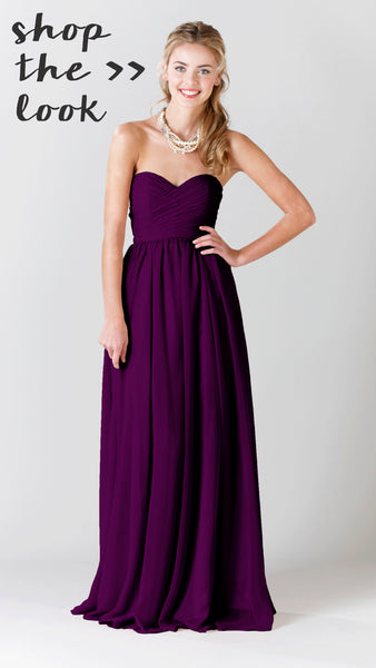 Shop Kennedy Blue Bridesmaid Dress Olivia in Eggplany