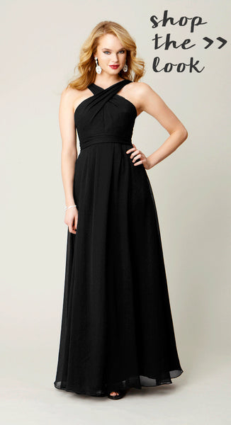 Shop Kennedy Blue Bridesmaid Dress Stella in Black