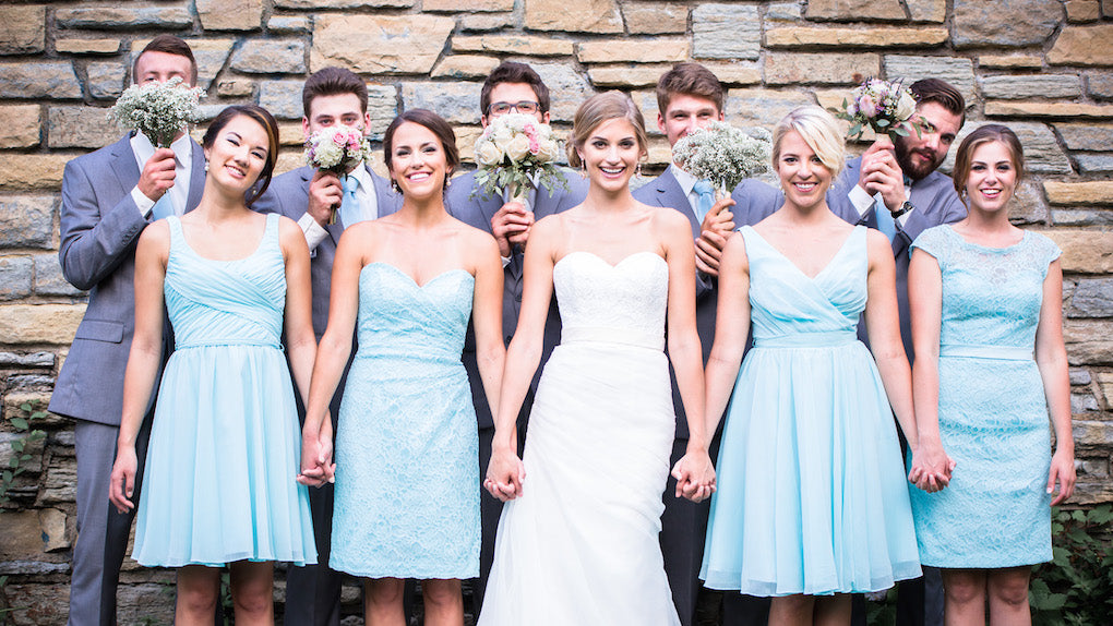 Mix and match marvelous mint bridesmaid dresses | The 5 Most Flattering Kennedy Blue Bridesmaid Colors