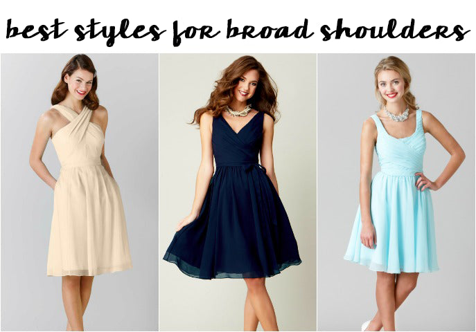 Best Bridesmaid Dress Styles for Broad Shoulders